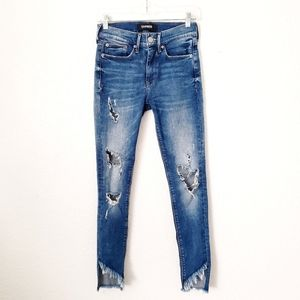 Express Ankle Leggings Mid Rise Distressed Jeans